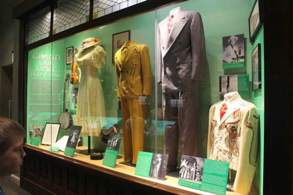 Ryman Auditorium history displays