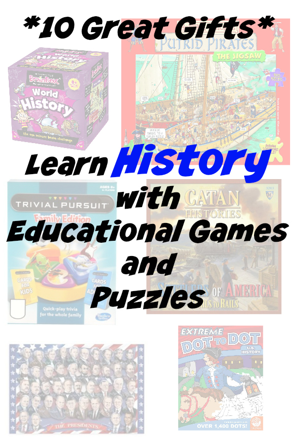 10 great educational gifts for kids History Games