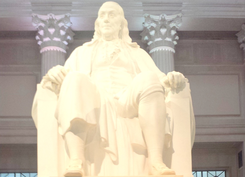 The Franklin Institute - Benjamin Franklin Statue